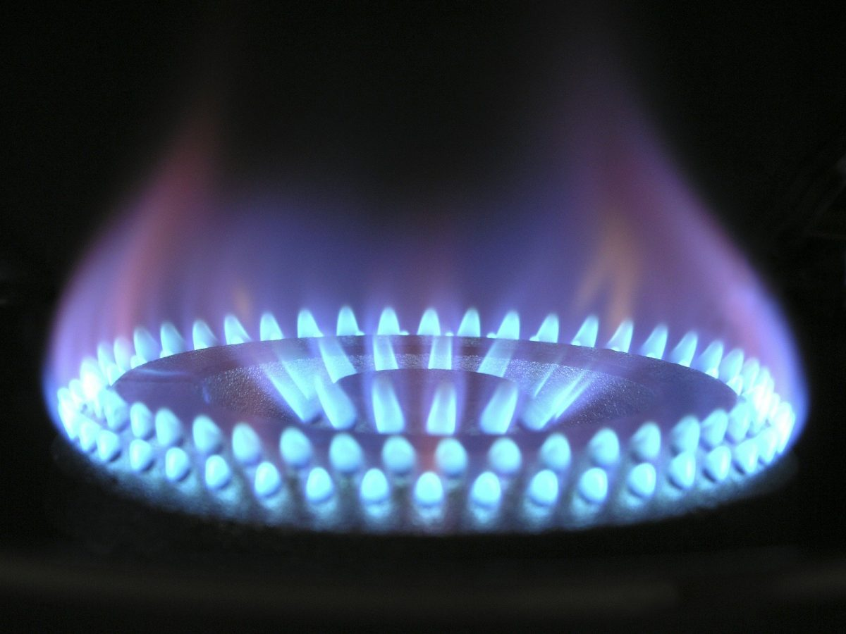 gas being burnt